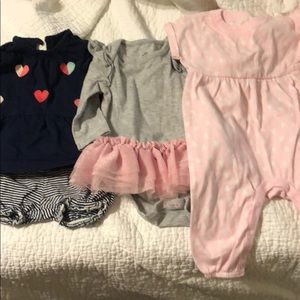 3 Baby Girl Outfits 0-3 months